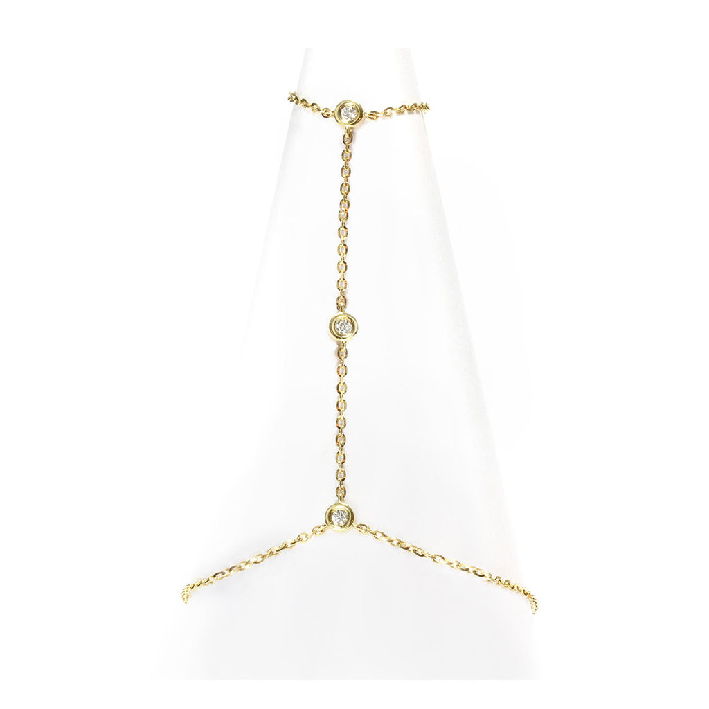Hand Chain Gold & Diamonds by the Yard - sillyshinydiamonds