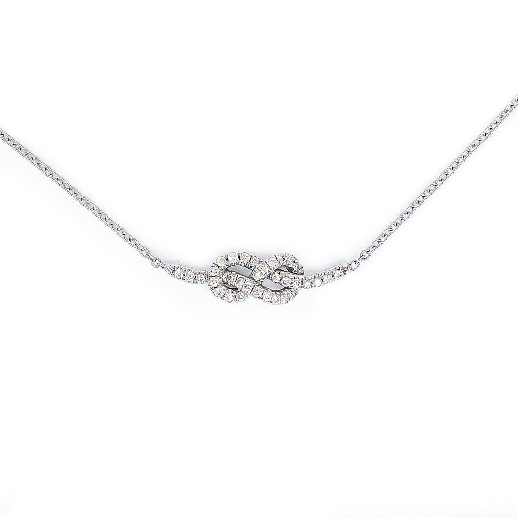 Petite infinity love knot diamond necklace - sillyshinydiamonds