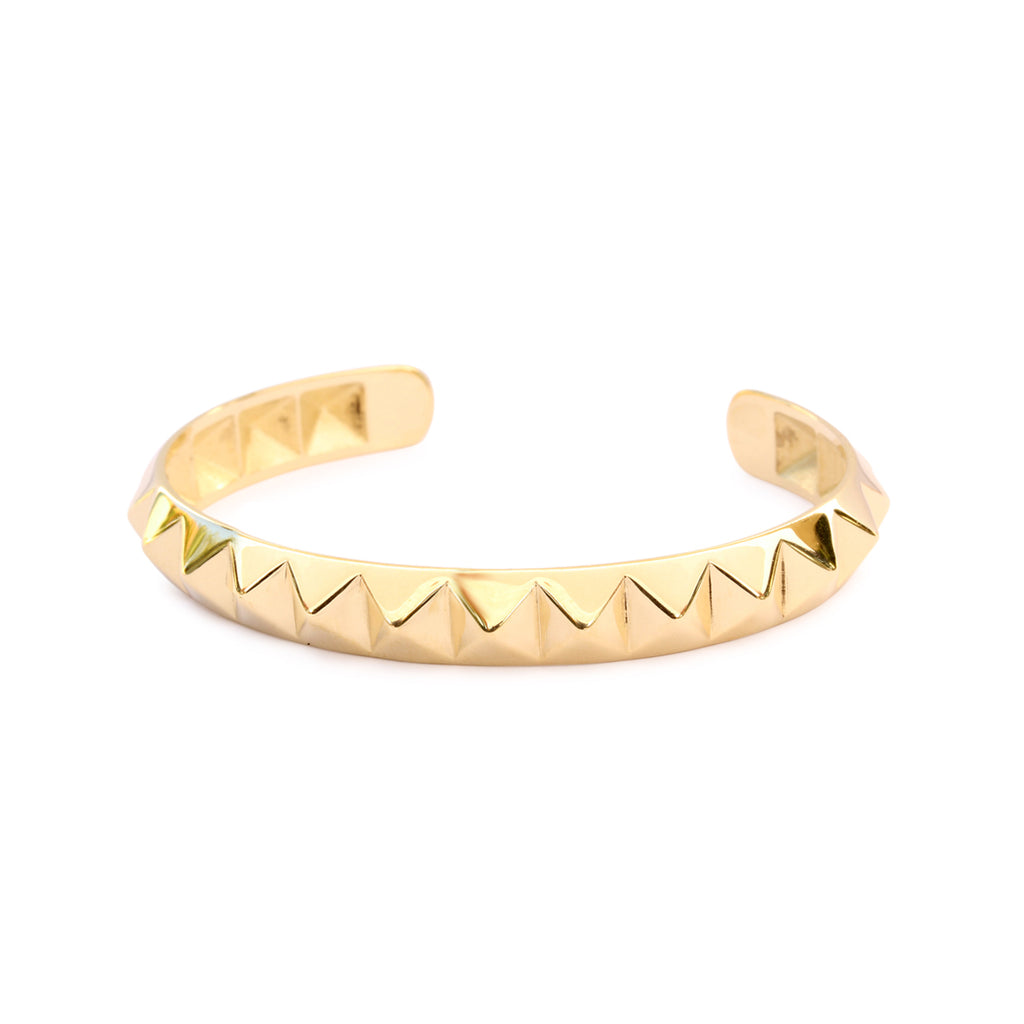 Pyramid Gold Cuff Bangle - sillyshinydiamonds