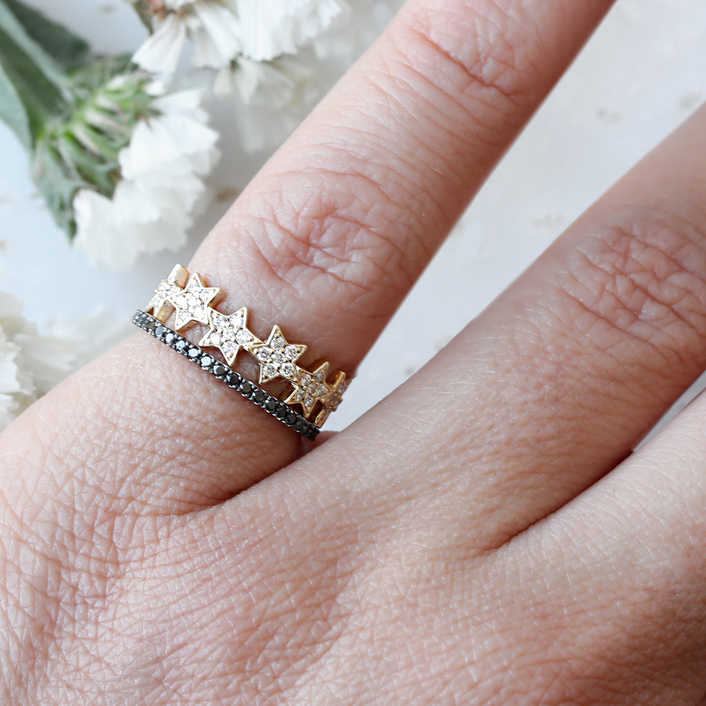 Eternity Stars Diamond Ring - sillyshinydiamonds