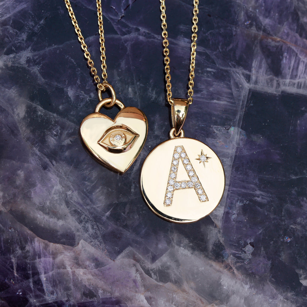 The all seeing heart illuminati pendant necklace