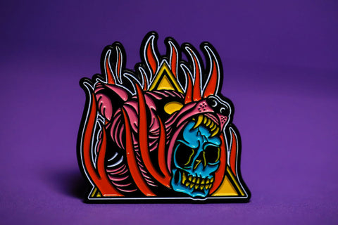 Burning Bear - Enamel Pin