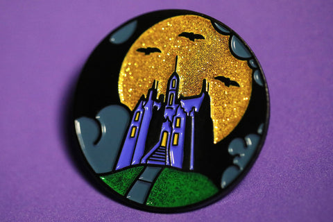 Ghostly Retreat (Glitter)  - Enamel Pin
