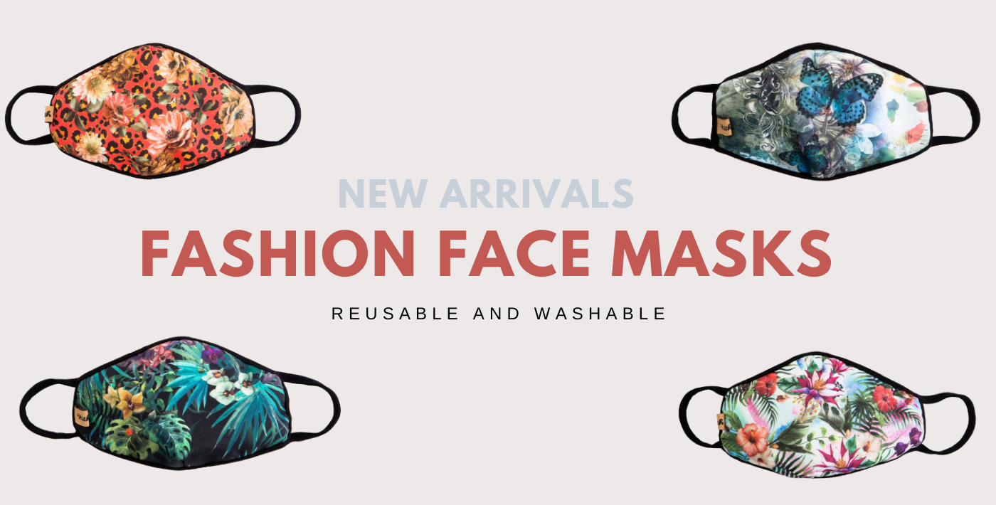 readily available washable and reusable fashion face mask. Four (4) mask on the picture