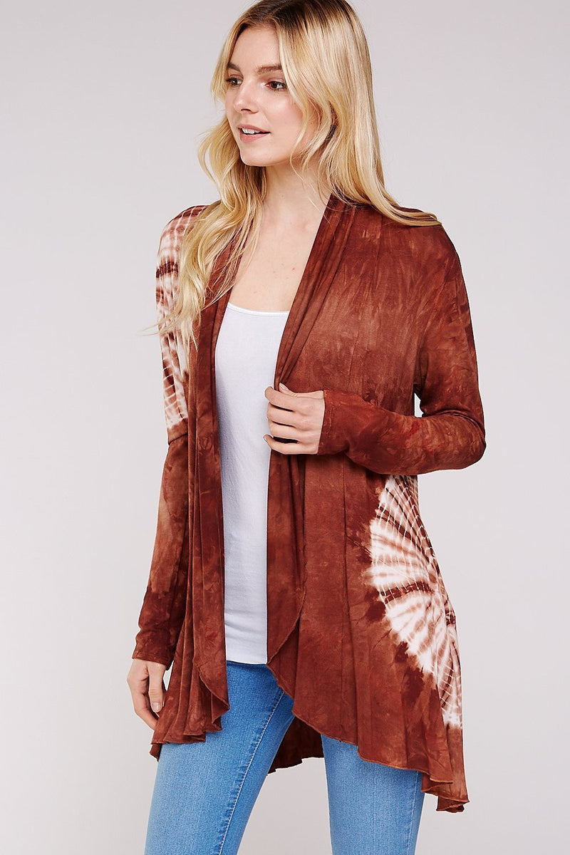 Wholesale Clothing, Online Wholesale Clothing, Women Clothing, Bohemian, Free People, tiedye, specialty wash, wholesale seller, wholesale women clothing shop, gypsy look, USA made, URBAN X APPAREL-CARDIGANS-UCR3002, fashiontrend2019