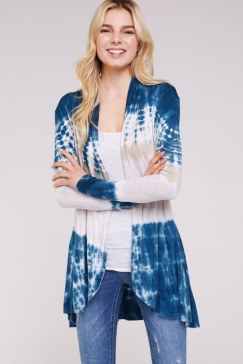 Wholesale Clothing, Online Wholesale Clothing, Women Clothing, Bohemian, Free People, tiedye, specialty wash, wholesale seller, wholesale women clothing shop, gypsy look, USA made, URBAN X APPAREL-CARDIGANS-UCR3004A, fashiontrend2019