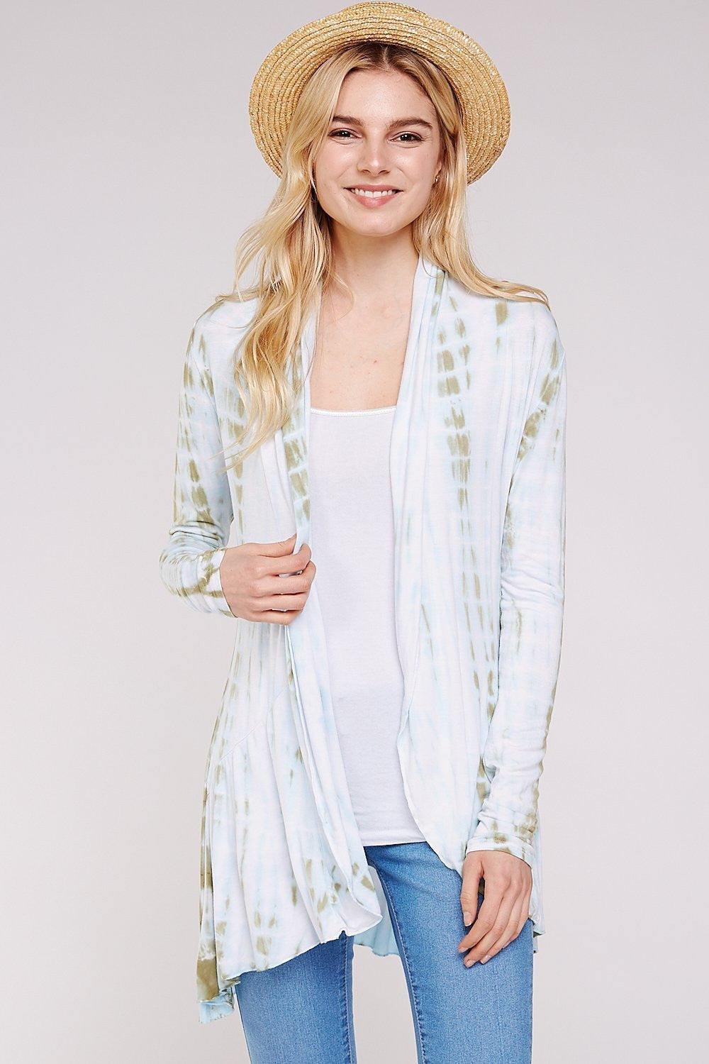 Wholesale Clothing, Online Wholesale Clothing, Women Clothing, Bohemian, Free People, tiedye, specialty wash, wholesale seller, wholesale women clothing shop, gypsy look, USA made, URBAN X APPAREL-CARDIGANS-UCR3006, fashiontrend2019