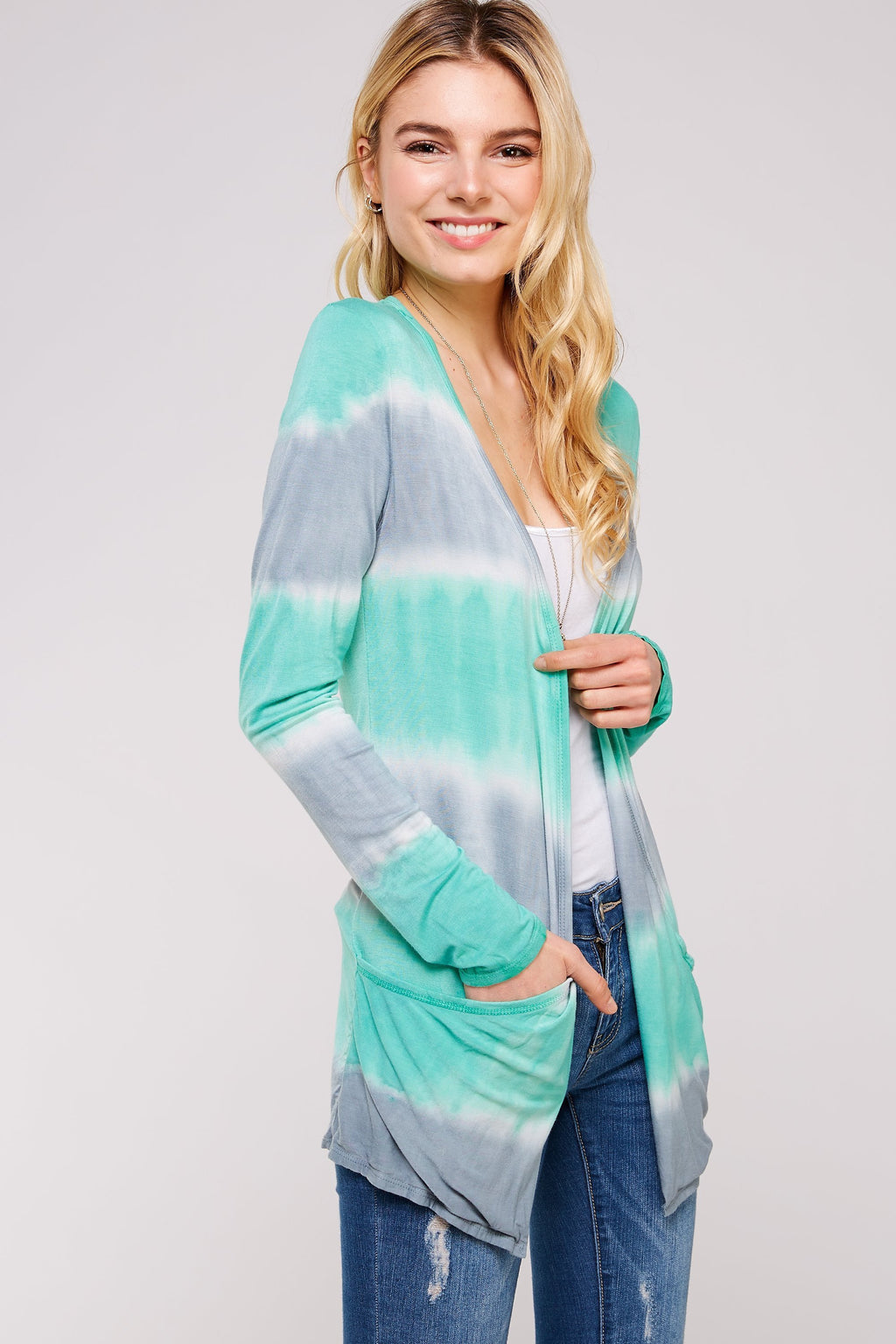 Wholesale Clothing, Online Wholesale Clothing, Women Clothing, Bohemian, Free People, tiedye, specialty wash, wholesale seller, wholesale women clothing shop, gypsy look, USA made, URBAN X APPAREL-CARDIGANS-UCR3036, fashiontrend2019