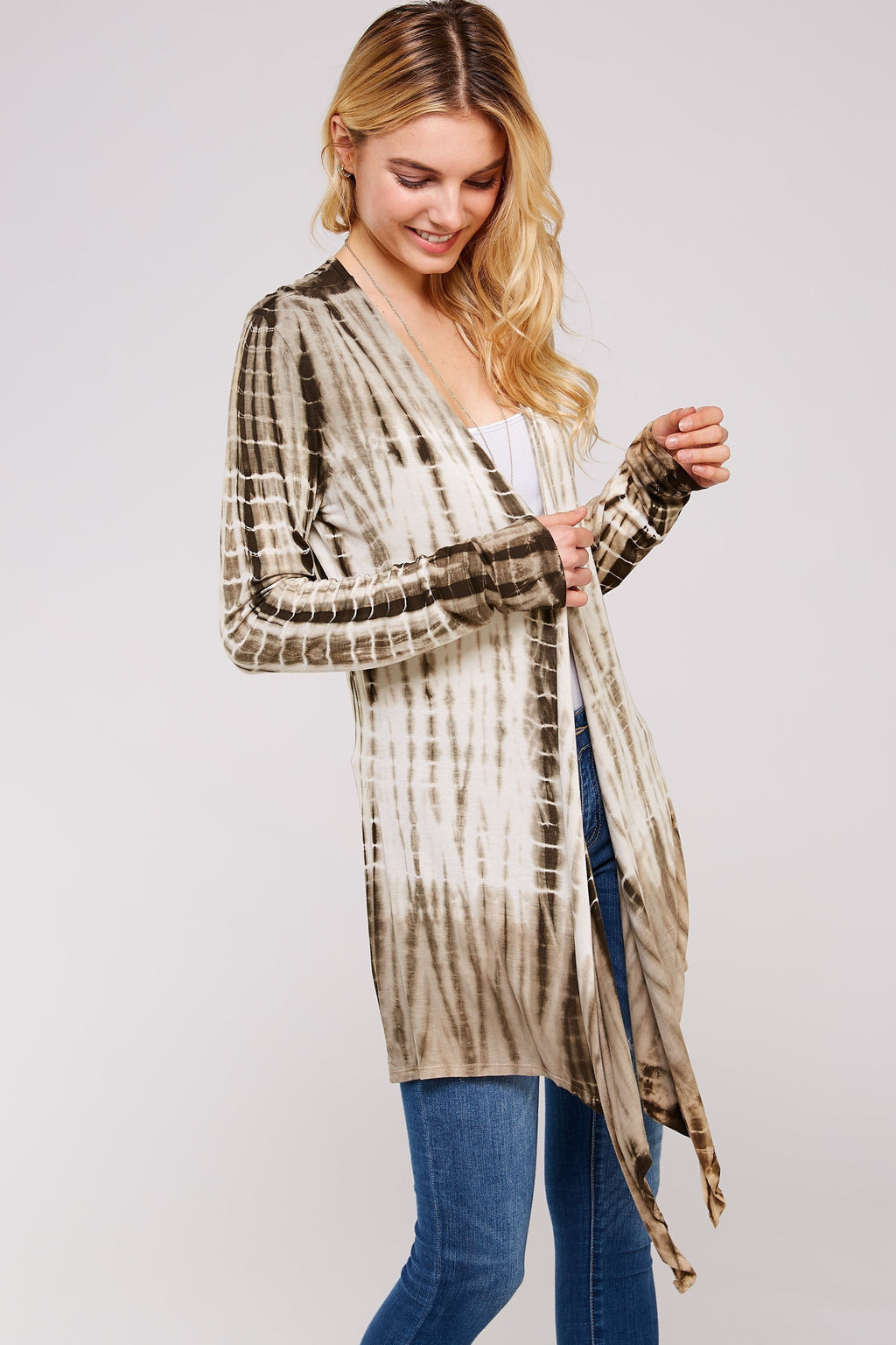 Wholesale Clothing, Online Wholesale Clothing, Women Clothing, Bohemian, Free People, tiedye, specialty wash, wholesale seller, wholesale women clothing shop, gypsy look, USA made, URBAN X APPAREL-CARDIGANS-UCR3171, fashiontrend2019