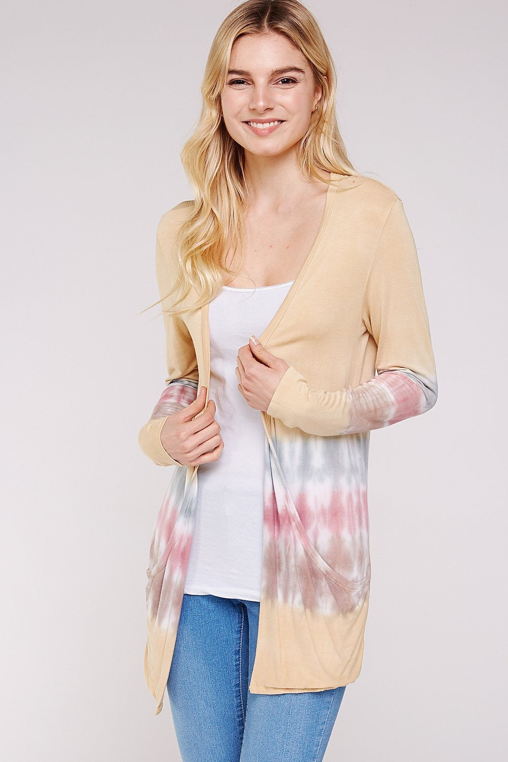 Wholesale Clothing, Online Wholesale Clothing, Women Clothing, Bohemian, Free People, tiedye, specialty wash, wholesale seller, wholesale women clothing shop, gypsy look, USA made, URBAN X APPAREL-CARDIGANS-UCR3197, fashiontrend2019