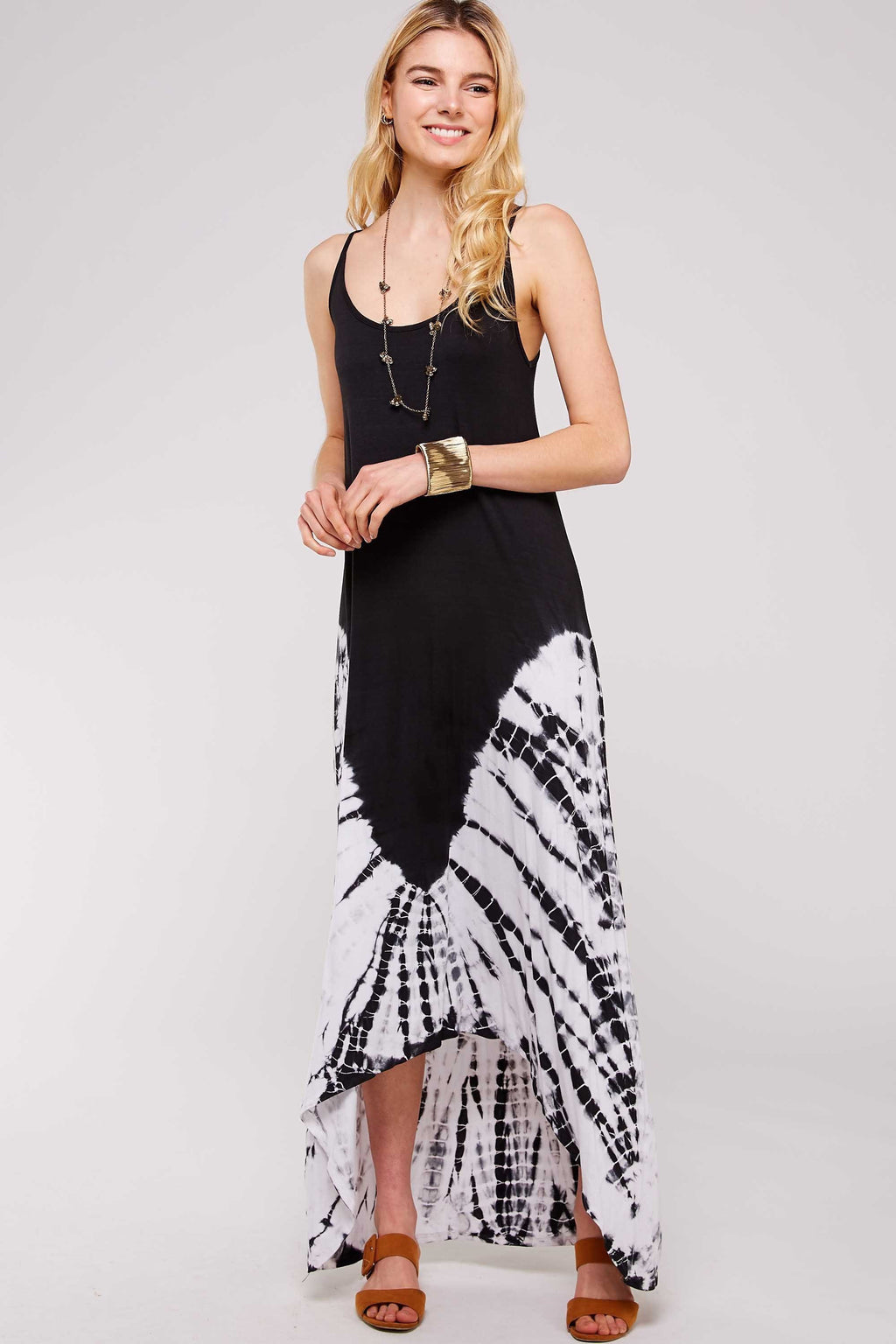 Wholesale Clothing, Online Wholesale Clothing, Women Clothing, Bohemian, Free People, tiedye, specialty wash, wholesale seller, wholesale women clothing shop, gypsy look, USA made, URBAN X APPAREL-DRESSES-UDR225BW, fashiontrend2019
