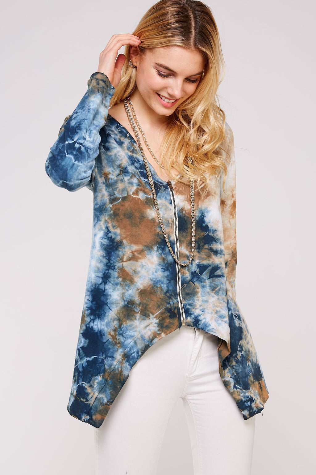 Wholesale Clothing, Online Wholesale Clothing, Women Clothing, Bohemian, Free People, tiedye, specialty wash, wholesale seller, wholesale women clothing shop, gypsy look, USA made, URBAN X APPAREL-CARDIGANS-UJF30335, fashiontrend2019