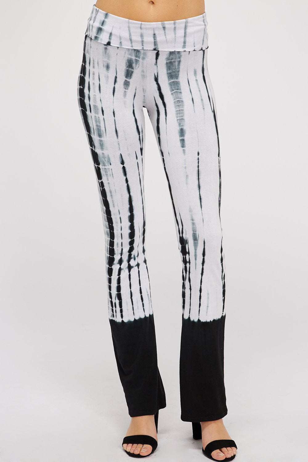 Wholesale Clothing, Online Wholesale Clothing, Women Clothing, Bohemian, Free People, tiedye, specialty wash, wholesale seller, wholesale women clothing shop, gypsy look, USA made, URBAN X APPAREL-PANTS-UPC3009BW, fashiontrend2019