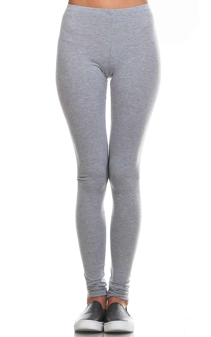 urban x apparel, urban x clothing, urbanxapparel, urbanxclothing, wholesale, women clothing, bohemian, free people, free spirit, young contemporary, fashion trend, fashion style, fashion 2019,RETAIL, Solid Basic Cotton Leggings Active wear Color Heather Grey, URBAN X APPAREL