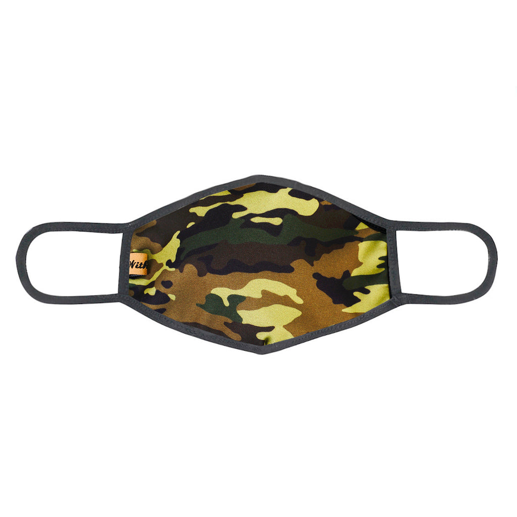 UXM0061 / One Size (12pcs) x $5.50-Fashion Print-Cotton Mask-ARMY Green Camouflage Print Washable and Reusable Face Mask (UXM0061)-Urban X Apparel