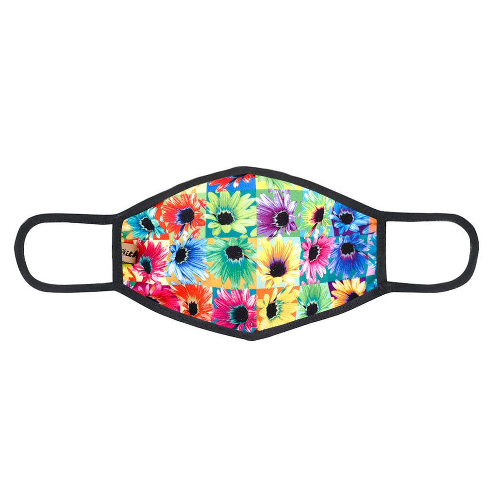 urban x apparel, urban x clothing, urbanxapparel, urbanxclothing, wholesale, women clothing, bohemian, free people, free spirit, young contemporary, fashion trend, fashion style, fashion 2019,RETAIL, Urban X Multicolor Neon Sunflowers Print Washable and Reusable Fashion Face Mask (UXM0066), URBAN X APPAREL