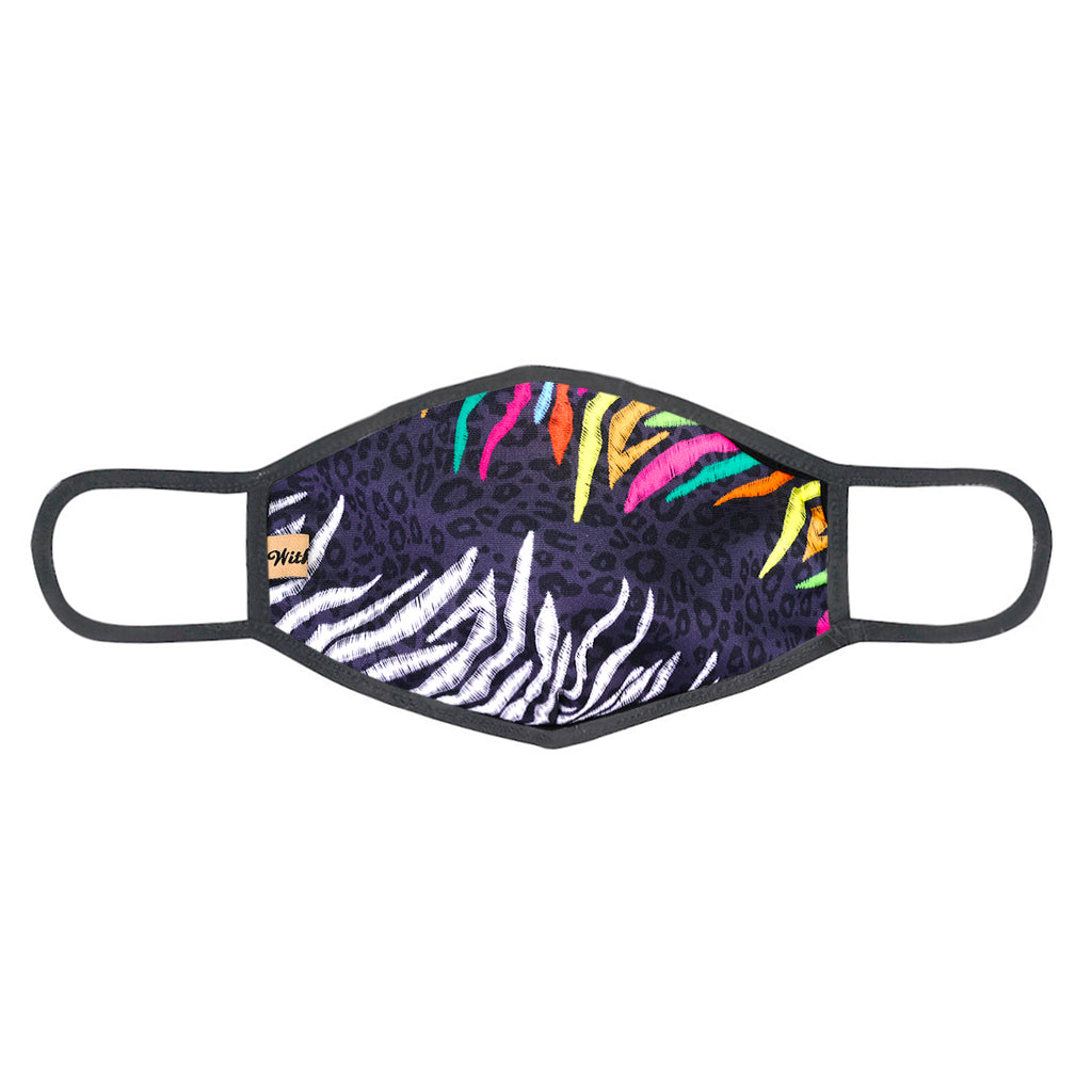 urban x apparel, urban x clothing, urbanxapparel, urbanxclothing, wholesale, women clothing, bohemian, free people, free spirit, young contemporary, fashion trend, fashion style, fashion 2019,RETAIL, Urban X Multicolor Black Leopard Print Washable and Reusable Fashion Face Mask (UXM0068), URBAN X APPAREL