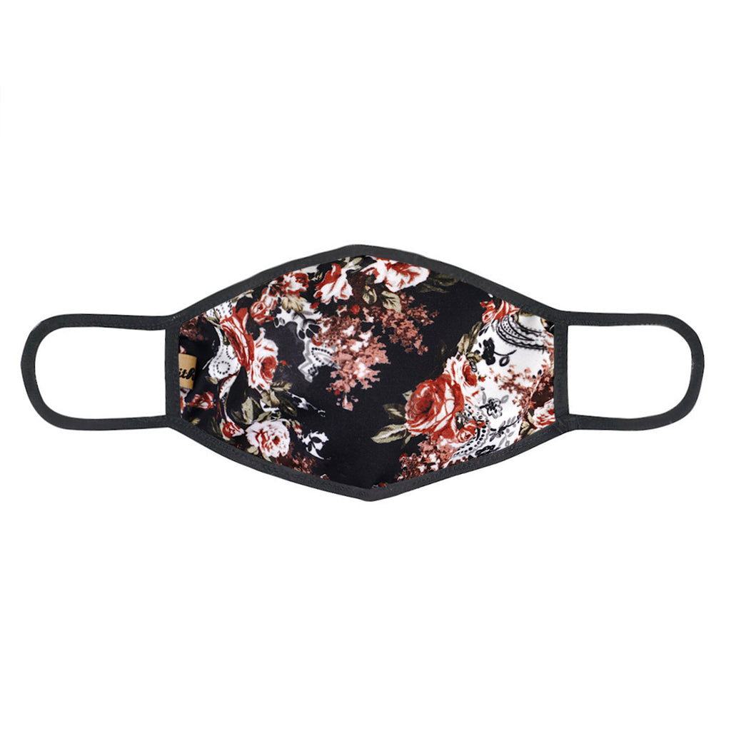 UXM0069 / One Size (12pcs) x $6.25-Fashion Print-Cotton Mask-Urban X Dark Navy Multi Floral Print Washable and Reusable Fashion Face Mask (UXM0069)-Urban X Apparel