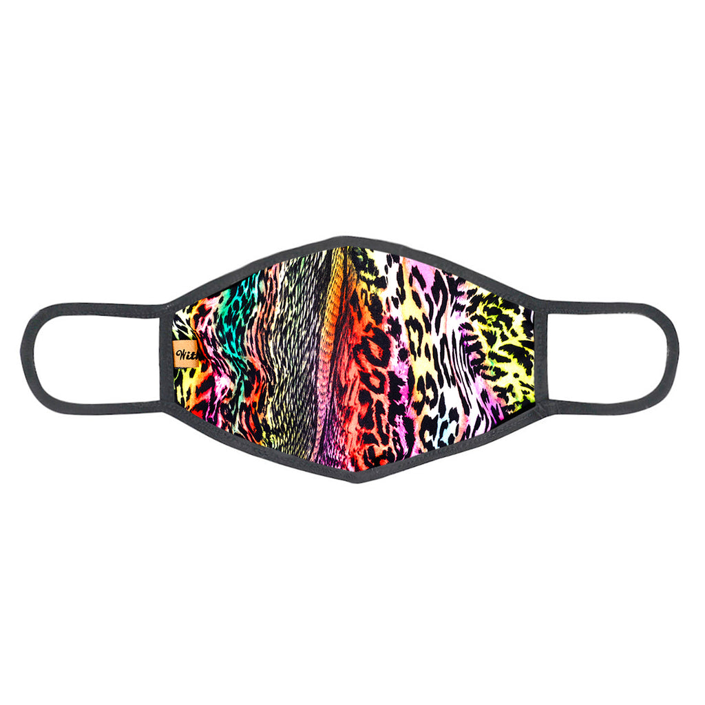 urban x apparel, urban x clothing, urbanxapparel, urbanxclothing, wholesale, women clothing, bohemian, free people, free spirit, young contemporary, fashion trend, fashion style, fashion 2019,RETAIL, Urban X Multicolor Neon Animal Design Print Washable and Reusable Fashion Face Mask (UXM0072), URBAN X APPAREL