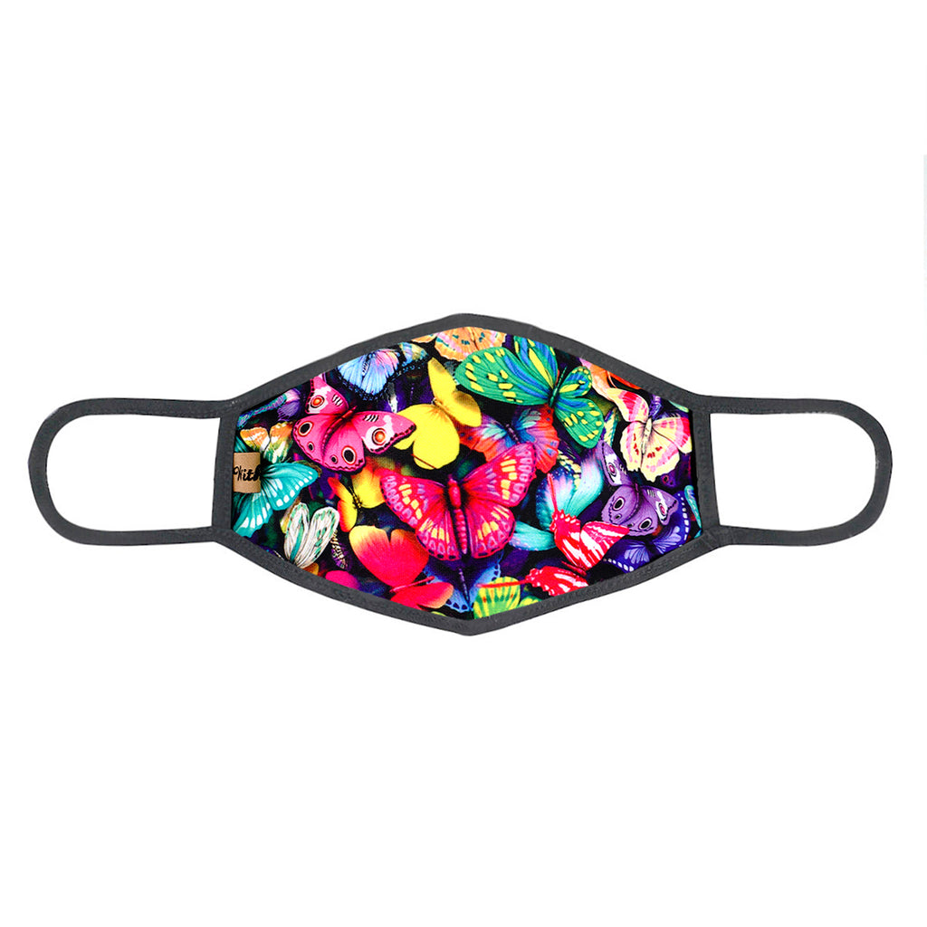 urban x apparel, urban x clothing, urbanxapparel, urbanxclothing, wholesale, women clothing, bohemian, free people, free spirit, young contemporary, fashion trend, fashion style, fashion 2019,RETAIL, Urban X Bold Colorful Butterfly Print Washable and Reusable Fashion Face Mask (UXM0082), URBAN X APPAREL