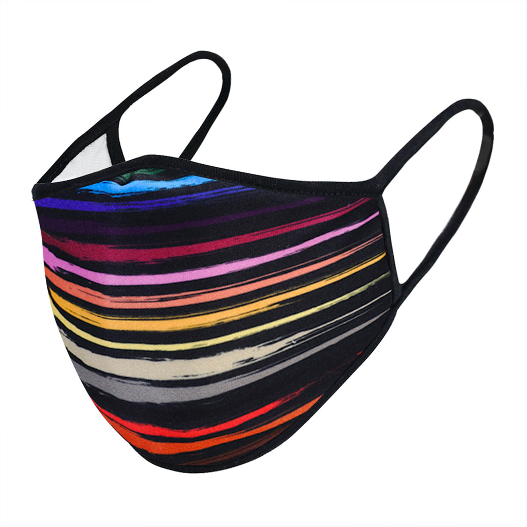UXM0093 / One Size (12pcs) x $6.25-Fashion Print-Cotton Mask-Urban X Colorful Rainbow Stripes Print Washable and Reusable Fashion Face Mask (UXM0093)-Urban X Apparel