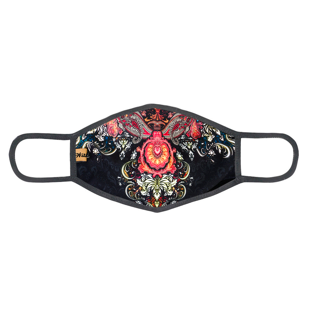 urban x apparel, urban x clothing, urbanxapparel, urbanxclothing, wholesale, women clothing, bohemian, free people, free spirit, young contemporary, fashion trend, fashion style, fashion 2019,RETAIL, Urban X Vintage Floral & Scroll Design Washable and Reusable Fashion Face Mask (UXM0099), URBAN X APPAREL