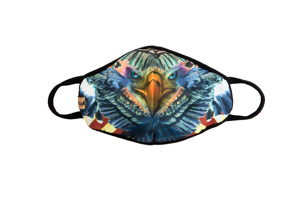 urban x apparel, urban x clothing, urbanxapparel, urbanxclothing, wholesale, women clothing, bohemian, free people, free spirit, young contemporary, fashion trend, fashion style, fashion 2019,RETAIL, American Eagle Print Washable and Reusable Face Mask, URBAN X APPAREL