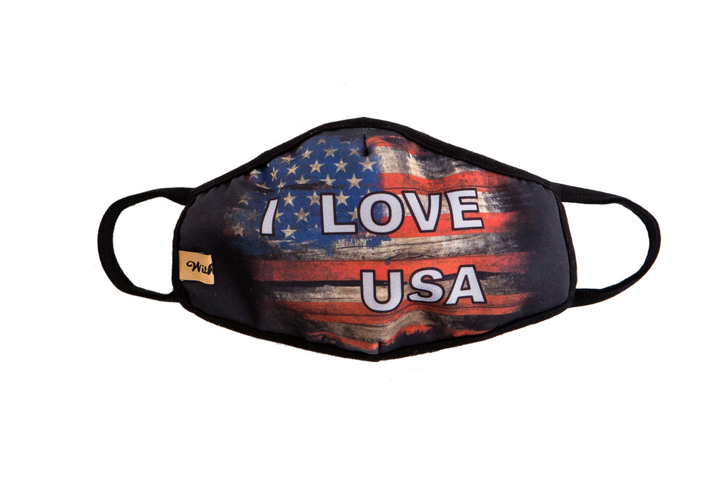 urban x apparel, urban x clothing, urbanxapparel, urbanxclothing, wholesale, women clothing, bohemian, free people, free spirit, young contemporary, fashion trend, fashion style, fashion 2019,RETAIL, Distressed Flag American Flag Washable & Reusable Face Mask, URBAN X APPAREL