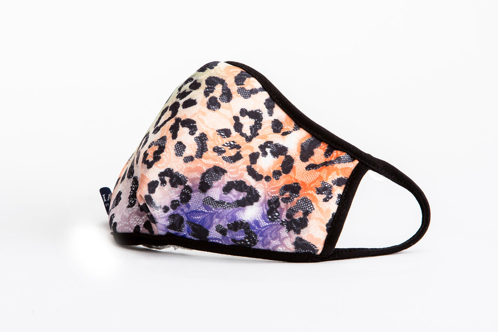 urban x apparel, urban x clothing, urbanxapparel, urbanxclothing, wholesale, women clothing, bohemian, free people, free spirit, young contemporary, fashion trend, fashion style, fashion 2019,RETAIL, Neon Cheetah Animal Print Washable and Reusable Face Mask, URBAN X APPAREL
