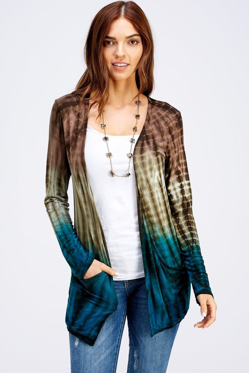 Wholesale Clothing, Online Wholesale Clothing, Women Clothing, Bohemian, Free People, tiedye, specialty wash, wholesale seller, wholesale women clothing shop, gypsy look, USA made, URBAN X APPAREL-CARDIGANS-UCR3187M, fashiontrend2019