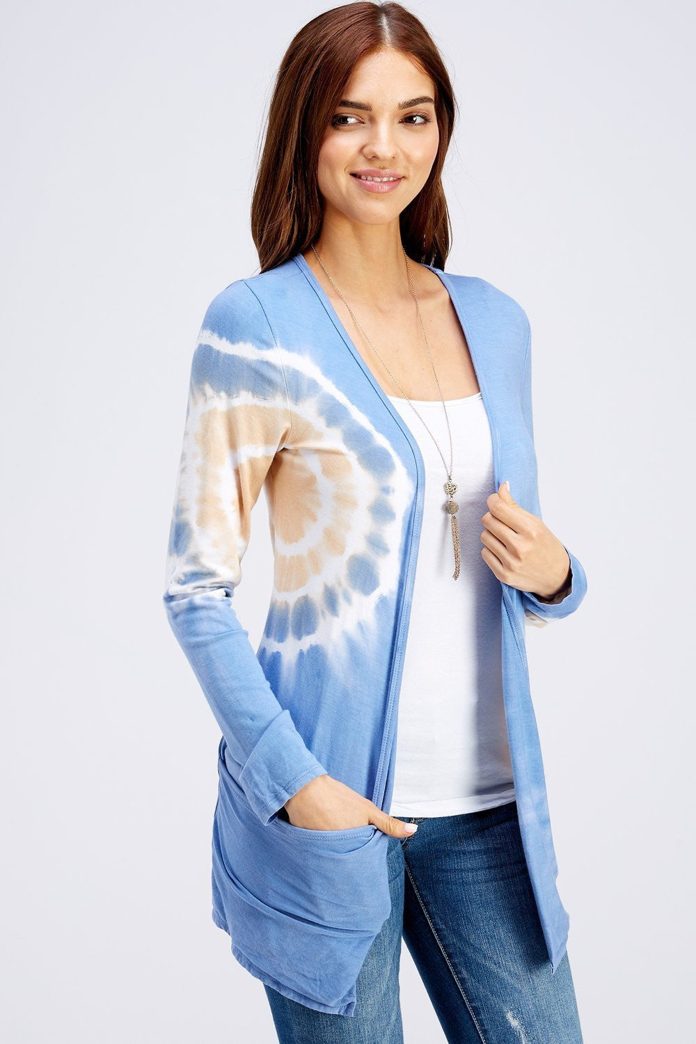 Wholesale Clothing, Online Wholesale Clothing, Women Clothing, Bohemian, Free People, tiedye, specialty wash, wholesale seller, wholesale women clothing shop, gypsy look, USA made, URBAN X APPAREL-CARDIGANS-UCR3187P, fashiontrend2019