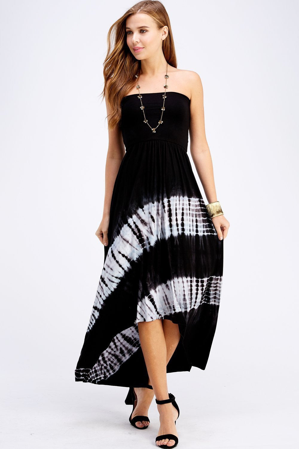Wholesale Clothing, Online Wholesale Clothing, Women Clothing, Bohemian, Free People, tiedye, specialty wash, wholesale seller, wholesale women clothing shop, gypsy look, USA made, URBAN X APPAREL-DRESSES-UDR3084BW, fashiontrend2019