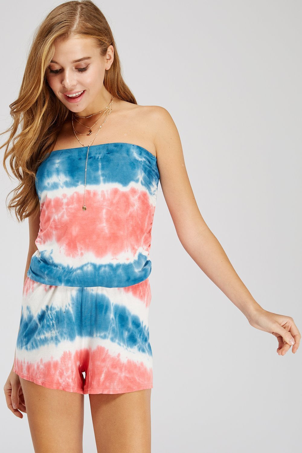 Wholesale Clothing, Online Wholesale Clothing, Women Clothing, Bohemian, Free People, tiedye, specialty wash, wholesale seller, wholesale women clothing shop, gypsy look, USA made, URBAN X APPAREL-ROMPERS-URP30077B, fashiontrend2019