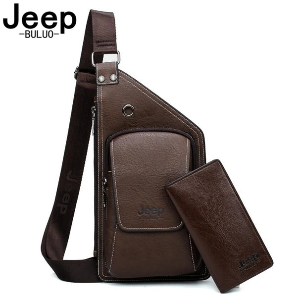 ed6b7df283f0 BULUOJEEP Men s Corssbody Sling Bag Fashion Men Chest Bag Shoulder Bags  College Students High Quality Travel ...