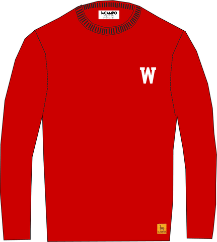 W Red Alpaca Crew Neck