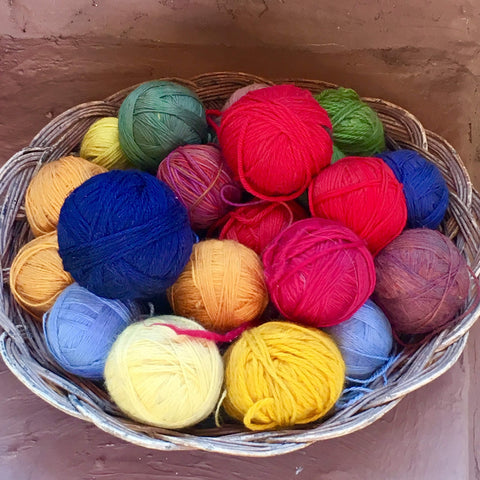 colorful, yarn