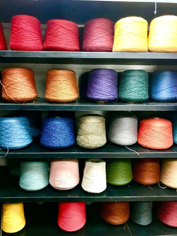 alpaca yarn, colorful