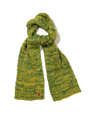 green, yellow, scarf, new