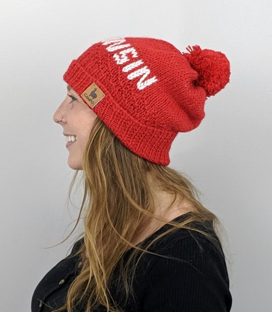 Go Red Wisconsin Alpaca Beanie