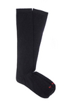 Black alpaca dress sock boot sock