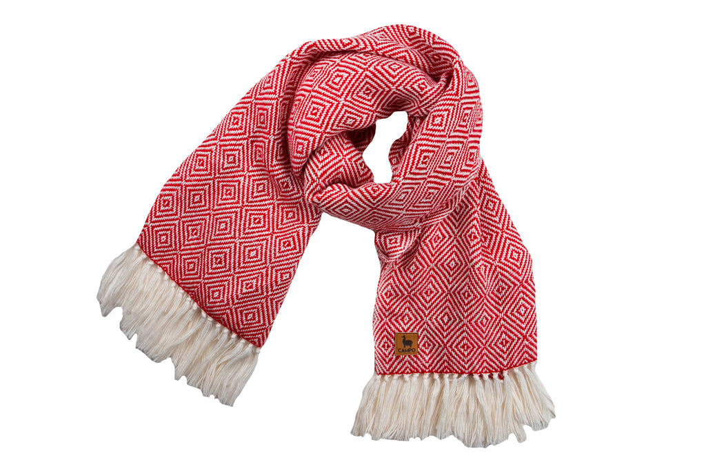 Scarf - Red Diamond