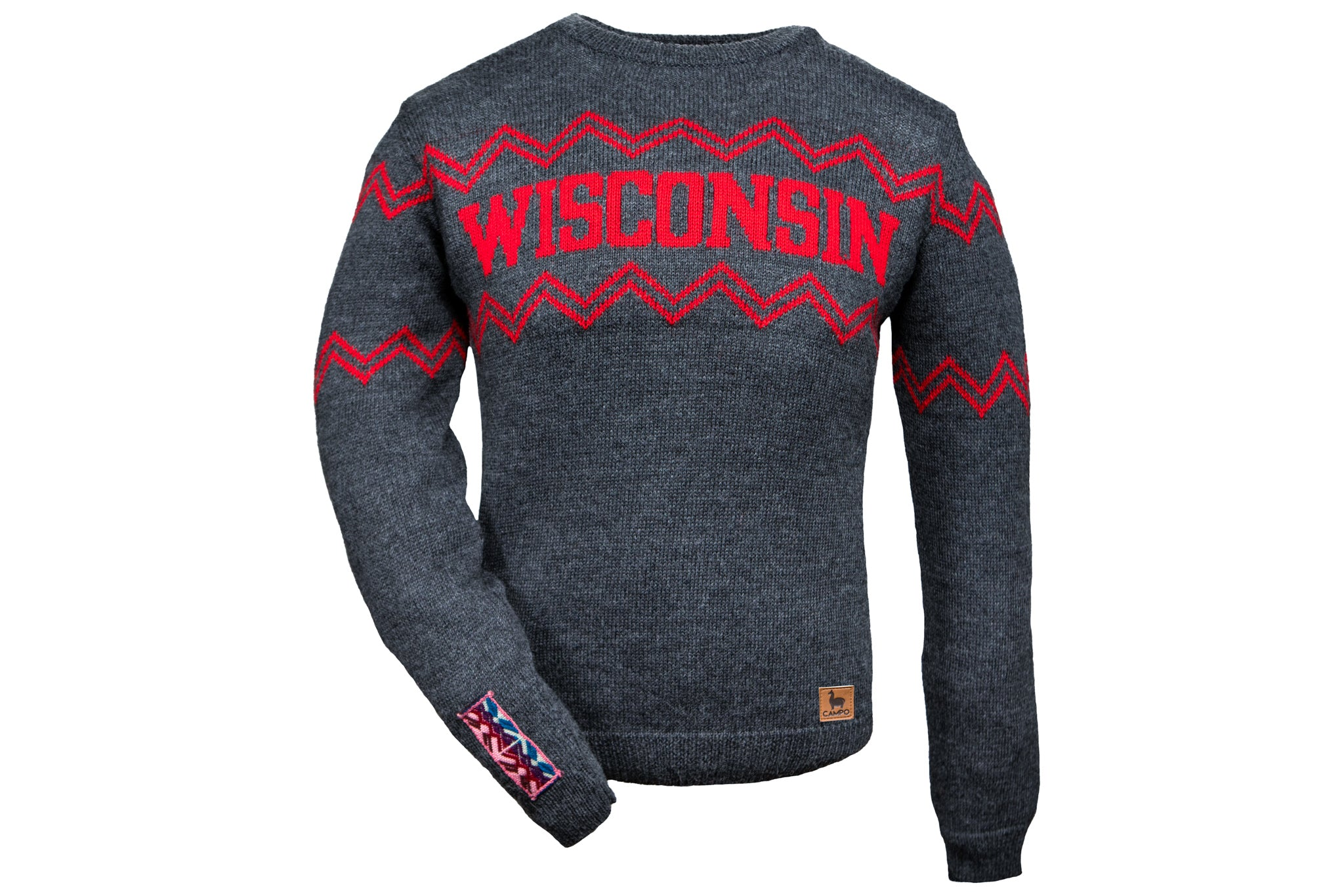 Dark Gray Wisconsin Alpaca Crew Neck Sweater