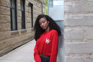 Wisconsin Crew Neck - Red W
