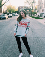 Wisconsin Crew Neck - Light Gray