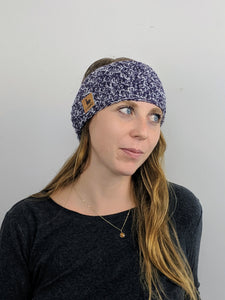 Headband - Purple & White