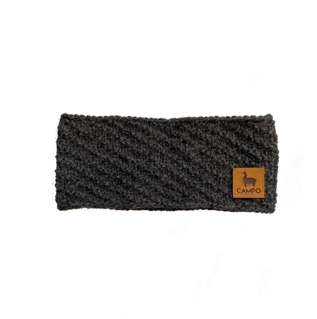 Alpaca Headband - Dark Gray