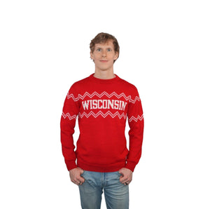 Wisconsin Alpaca Crew Neck Sweater - Red