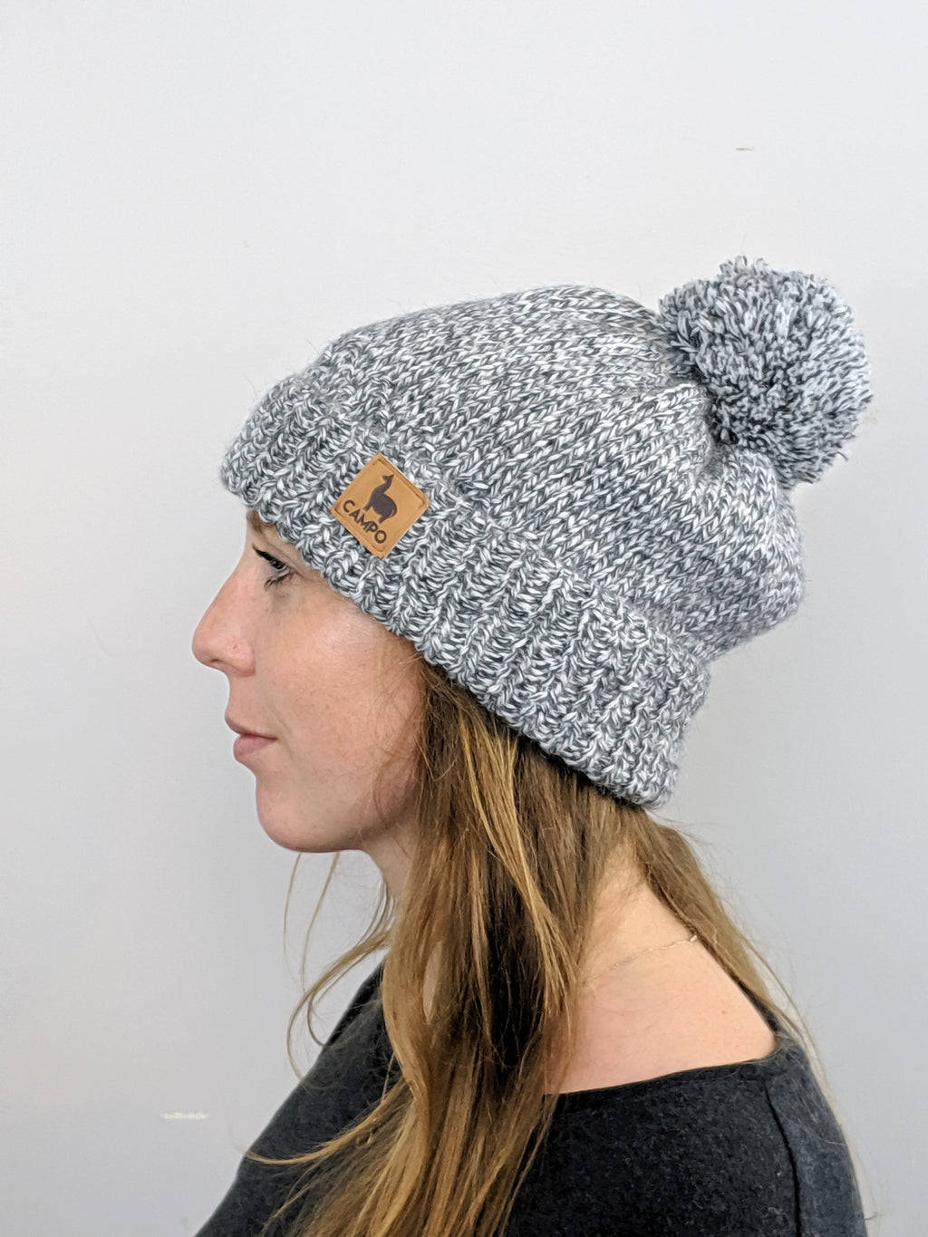 Alpaca Beanie - Salt & Pepper
