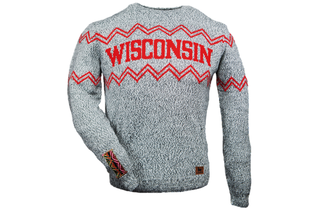 Salt and Pepper Wisconsin Alpaca Crew Neck Sweater