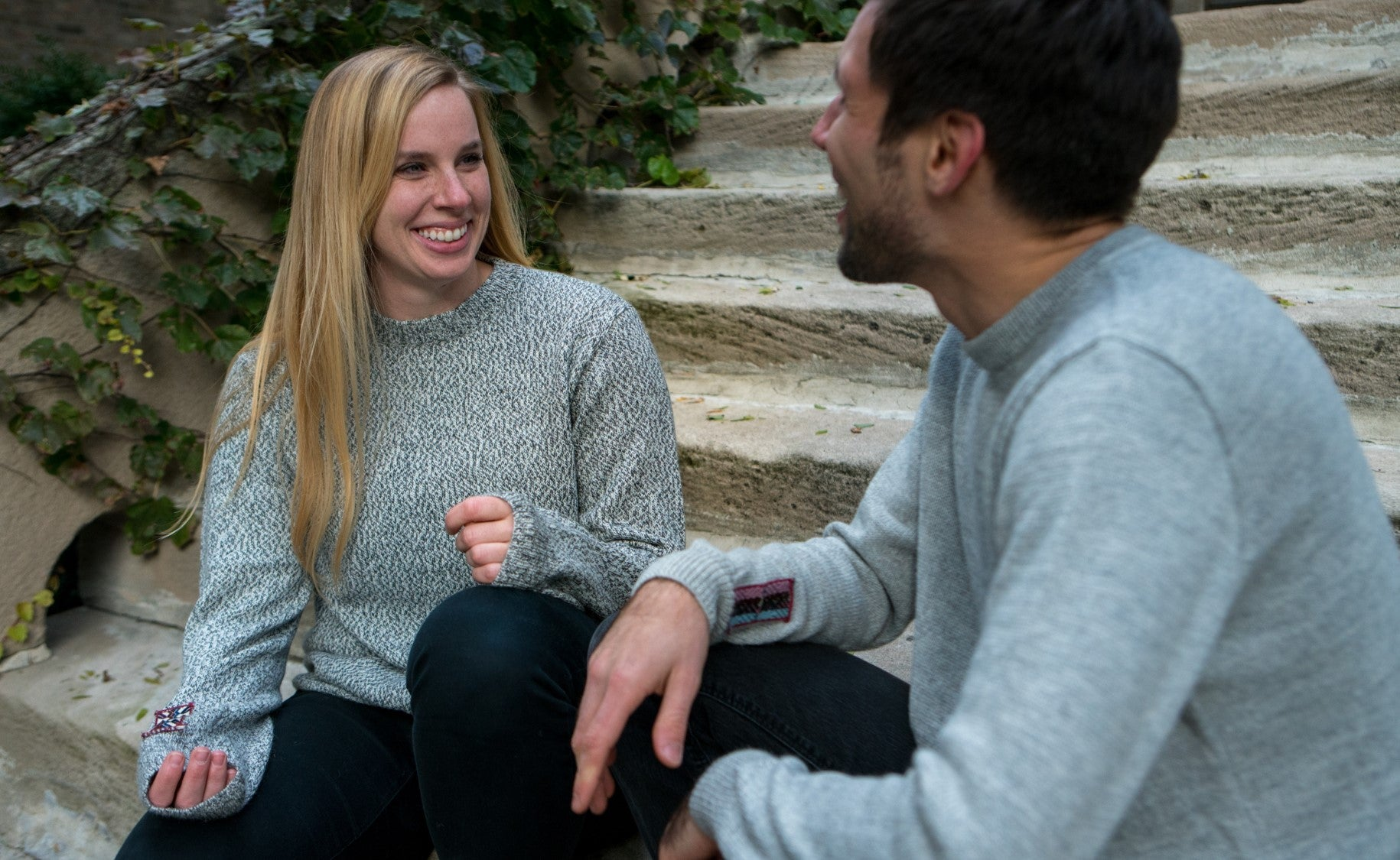 Alpaca Crew Neck Sweater - Salt & Pepper